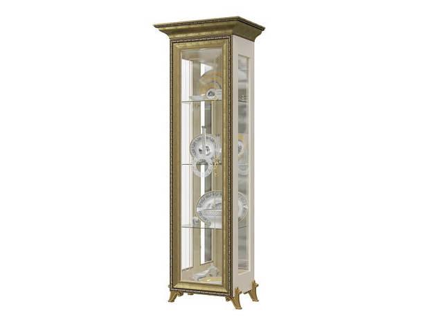 Шкаф 1-дверный Версаль ГВ-01 слоновая кость