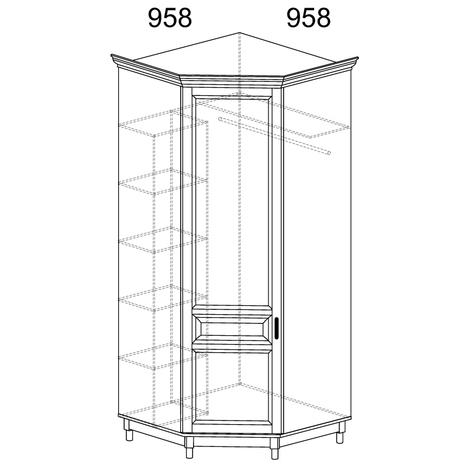 Шкаф угловой Прованс 418
