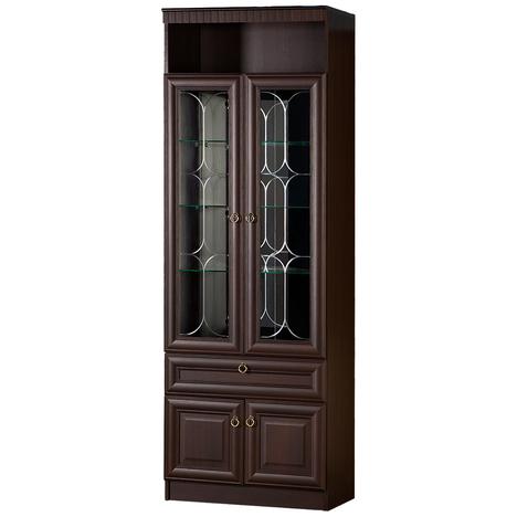 Шкаф-витрина Инна 612 денвер темный