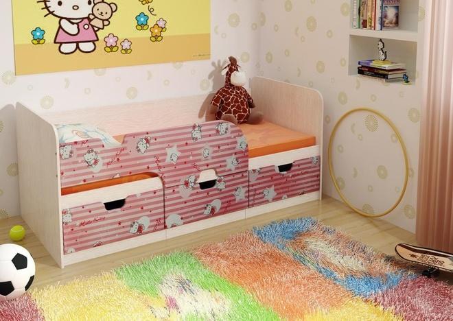 Кровать детская Хеллоу Кити/Лайм  Минима