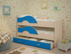 Кровать 2х-яр выкатная Радуга 1,6 м с ящиком