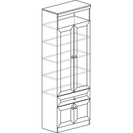Шкаф-витрина Инна 611 денвер темный